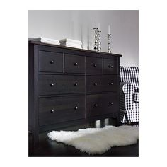HEMNES Chest of 8 drawers IKEA Extra roomy drawers; more space for storage. Smooth running drawers with pull-out stop.