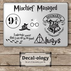 Harry Potter Set - Apple Macbook Laptop Vinyl Sticker Decal
