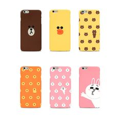 LINE FRIENDS BROWN & CONY Character Graphic Case Cover For Apple iPhone 6 Plus  #LINE #LINEFRIENDS #BROWN #CONY #phonecase #iphone #cute #iphone6plus #smartphone #polycarbonate #LINEFRIENDSxDESIGNSKIN