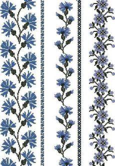pinterest.com Cross Stitch Borders, Cross Stitch Flowers, Cross Stitch Designs, Cross Stitching, Cross Stitch Patterns, Folk Embroidery, Embroidery Patterns Free, Cross Stitch Embroidery, Embroidery Designs