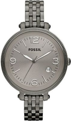 Fossil Women's ES3131 Heather Stainless Steel Smoke Watch:Amazon:Watches
