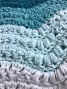 """Can't you see this gorgeous crochet baby blanket in all sorts of color combinations? This pattern works up in sweet waves perfect for any nursery. Afghan Patterns, Crochet Stitches Patterns, Stitch Patterns, Baby Blanket Crochet, Crochet Baby, Crochet Afghans, Crochet Blankets, Crochet Ripple, Baby Afghans"