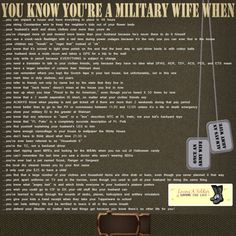you know you're a military wife when...