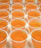 Creamsicle Jello shots 1 (3 ounce) box orange Jell-O 1 cup boiling ...