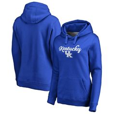 Kentucky Wildcats Fanatics Branded Women's Plus Sizes Freehand Pullover Hoodie - Royal