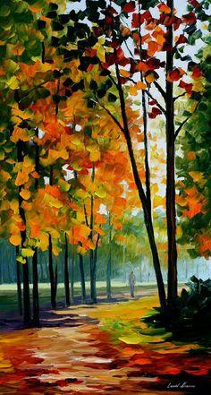 Hot Noon In The Forest — PALETTE KNIFE Oil Painting On Canvas By Leonid Afremov #LeonidAfremov #AfremovArtStudio #pictures #talentedartist