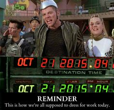 All of Back To The Future is now in the past! Can't believe it!