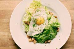 winter market salad with fried egg