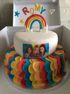 K3 birthday Rainbow cake