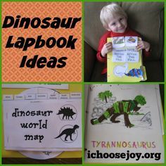 Come see how we did a unit study and lapbook on Dinosaurs! #homeschool