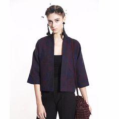 COLE COOL Women's Floral Tweed Coat #COLECOOL #BasicJacket