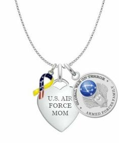 Air Force Mom Necklace MFYR New York 925 & Co.. $39.95. Powder Blue Gift Box. 18 Inch Cable Chain. Ships Today!. Spring Clasp Closure. Professionally Engraved Heart Tag. Save 50%!