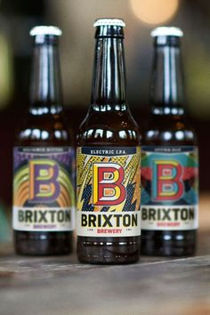 Bottles for the new Brixton Brewery