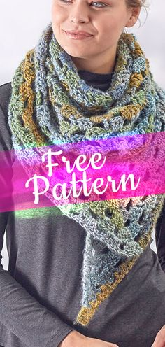This pattern may be easy enough for a crocheter with little experience, but it will advance your wardrobe to a new higher level! Wear it as a scarf or shawl. The gorgeous yarn is offered in painterly shades that give your crochet movement and style. Crochet Scarves, Crochet Shawl, Diy Crochet, Crochet Clothes, Crochet Designs, Crochet Patterns, Popular Crochet, Yarn Colors, Beautiful Crochet