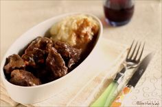 Beef with red wine  spezzatino al vino rosso