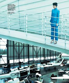 Singles Korea   Issue: October 2012  Title: Into The Space  Model: Jin Jung Sun  Photography: Kim Je Won   Styling: Jung Min Kang