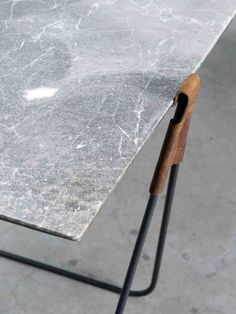 'In Vain' Marble Trestle Table by Ben Storms