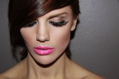 Pink lips & Lashes by Sunkissed & Made Up