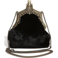 House Of Harlow 1960 'rey' Velvet Pouch (10.500 RUB) ❤ liked on Polyvore featuring bags, handbags, clutches, purses, bolsas, black, pouch purse, vintage style handbags, velvet handbags and velvet pouch