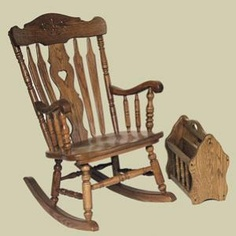 Redux Antique Rocking Chair   Heritage Colonial Daisy Country Lane Rocking  Chair U0026 Magazine Rack.