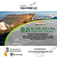 Disfruta las maravillas de Canaima. -Paseo laguna de Canaima -Sobrevuelo al Salto Angel -Salto Sapo -Boleto aéreo -Todas las comidas  #igers #igersvenezuela #instavenezuela #turismo #paquetes #hoteles #venezuela #igersmorrocoy #hacienda #venezuela #hospedaje #paraiso #cielo #descanso #vacaciones #lugares #sol #naturaleza #gransabana #twitter #tepuy #agenciadeviajes #agencia by voydeviaje