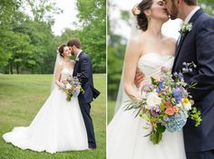 Wild flower bouquets and peony boutonniere inspiration.The perfect way to show off your wedding flowers! Wedding floral inspirations with roses, peonies, and hydrangeas.  Katie & Alec Photography, The Barn at Shady Lane wedding photographers in Birmingham, Alabama.