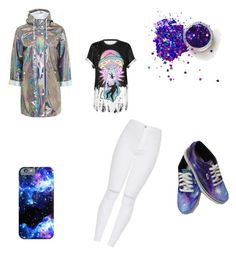 """Galaxie"" by nylc on Polyvore featuring mode, Topshop, WithChic, violet et galaxie"