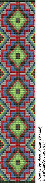 - Схемы для бисероплетения / Free bead patterns -: Схема браслета - станочное…