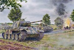 Panther destroyed an Allied column during the course of Operation Market-Garden, courtesy of Steve Noon.