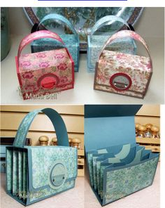 Accordion File PurseTutorial Created by Maria Bell Scrapbook Box, Scrapbook Paper Crafts, Scrapbooking, Craft Gifts, Diy Gifts, Atelier Creation, Paper Purse, Envelope Punch Board, Purse Tutorial