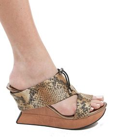 26d20f5666a6 Take a look at the Beige Snakeskin  amp  Black Mojito Reversible Sandal on   zulily