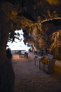 The Grotto Restaurant at Rayavadee  Krabi, Thailand