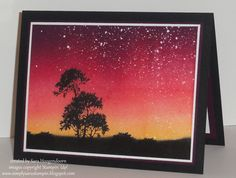 Serene Silhouettes in the Sky by shoogendoorn - Cards and Paper Crafts at Splitcoaststampers