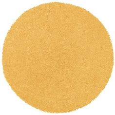 Yellow 5` Round Shagadelic Chenille Twist Rug with Free Shipping $89.99