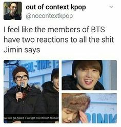 Hahaha the supportive ones and the not really supportive ones
