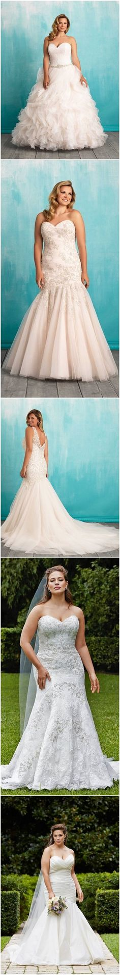Gorgeous Plus-Size Wedding Dresses / http://www.himisspuff.com/plus-size-wedding-dresses/