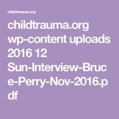 childtrauma.org wp-content uploads 2016 12 Sun-Interview-Bruce-Perry-Nov-2016.pdf