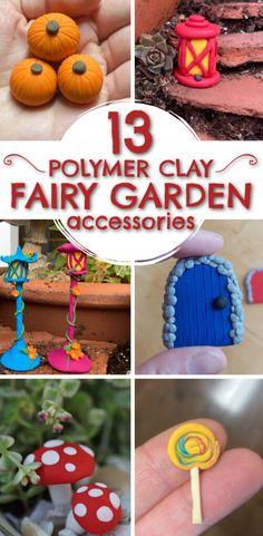Polymer Clay Fairy, Cute Polymer Clay, Polymer Clay Crafts, Diy Clay, Clay Fairy House, Fairy Houses, Diy Fairy Door, Clay Crafts For Kids, Clay Fairies