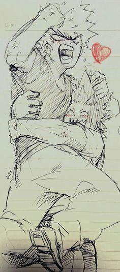 My hero Academia // BNHA // Katsuki Bakugo // Kacchan // Eijiro Kirishima // Red Riot