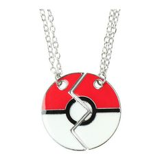 Pokemon Poke Ball Best Friends Necklace 2 Pack Hot Topic ($13) ❤ liked on Polyvore featuring jewelry and necklaces