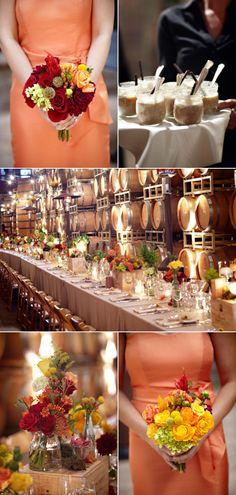 Fall Vineyard Wedding by Miki & Sonja Photography - Style Me Pretty