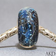 Handmade European Bracelet Charm SRA Lampwork Glass by AKDlampwork, $24.00