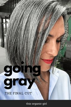 I never though gray could look this good! This cut is a symbol of the changes that transpired both inside and out over the past two years. Video + pics! #thisorganicgirl #grayhair #greyhair #goinggray #goinggrey #grayhaircut #grayhaircut