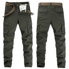 Fashion Slim Pocket Pants Military Cargo //Price: $111.97 & FREE Shipping // #morning #inspiration Overalls Fashion, Fashion Pants, Straight Guys, Cargo Pants, Stretch Fabric, Military, Pants Style, Morning Inspiration, Plus Size