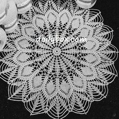 Free Crochet Patterns Easy Pineapple Doily Pattern