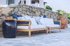 Aegean Blue Wedding & more…The fairytale like scenery of Mykonos, Georgia Papadon Outdoor Sofa, Outdoor Furniture, Outdoor Decor, Classy And Fabulous, Luxury Villa, Mykonos, Blue Wedding, Villas, Sunsets