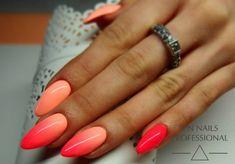 Zobacz zdjęcie Hit tego sezonu! Ombre w soczystych kolorach!!! LAkiery hybrydowe SPN Nails: 707 i 709 Paznokcie: Monika Sokołowska, Studio Magnetic Nails, SPN Nails Team w pełnej rozdzielczości