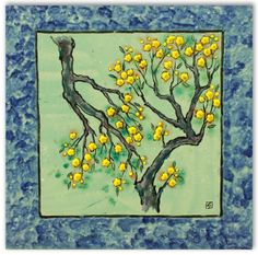 Tree with yellow flowers on it.