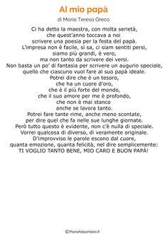 45 Poesie per la Festa del Papà per Bambini | PianetaBambini.it
