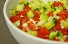 The Ginger Snap Girl: Tomato, Cucumber, Onion Salad